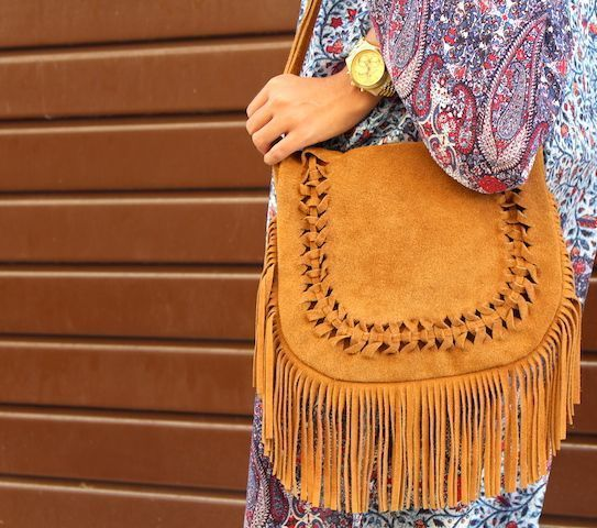 LOOK BOHO CON KIMONO LARGO PULL AND BEAR5