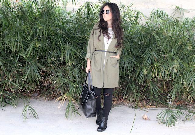 chaqueta oversize de Romwe