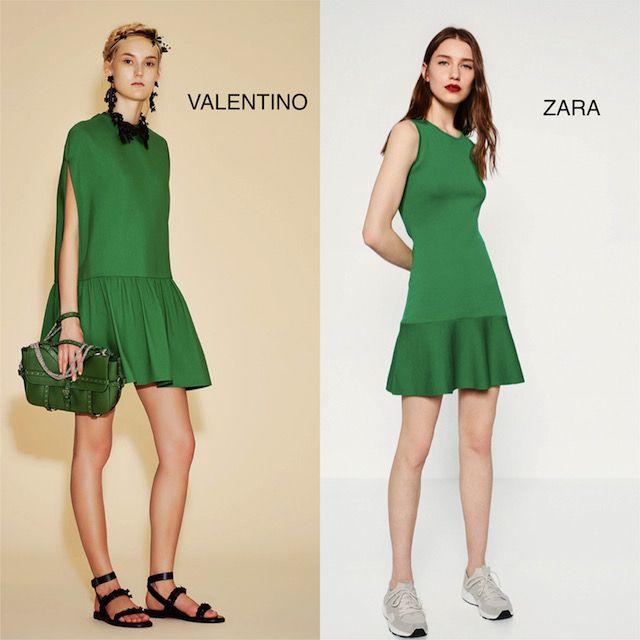 vestido verde con volante