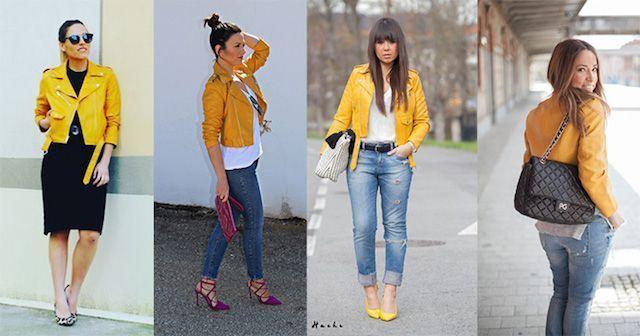 biker amarilla de Zara