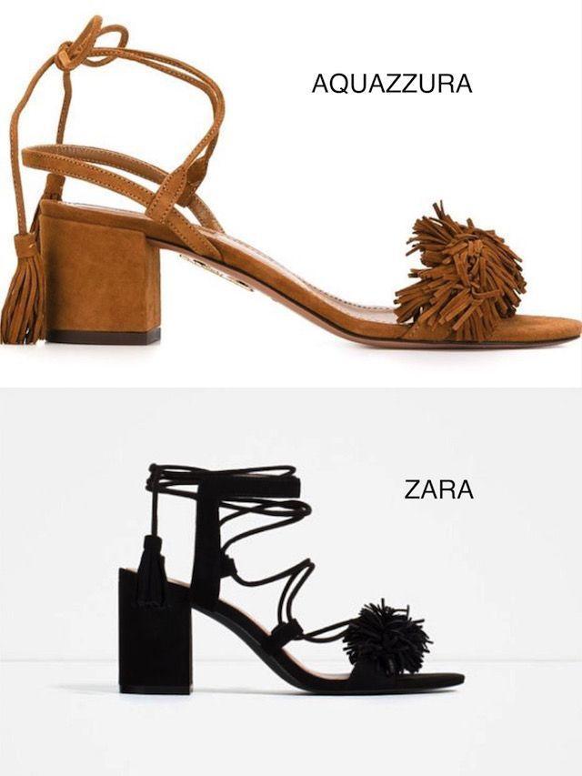 sandalias flecos de Aquazzura