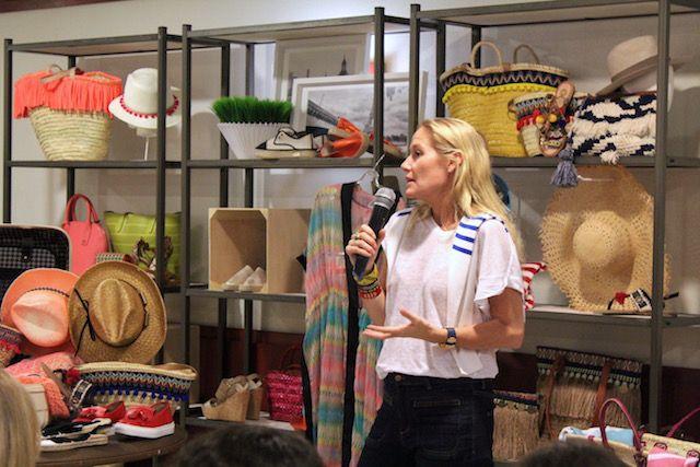 Fiona Ferrer hablando de moda en Alicante