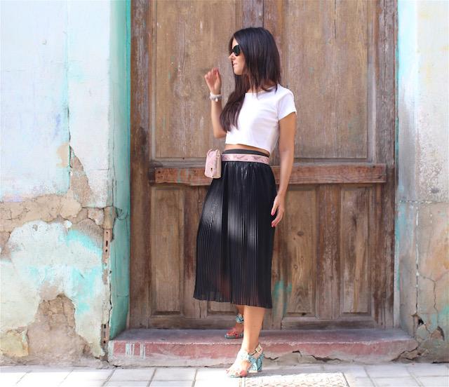falda plisada de Mango