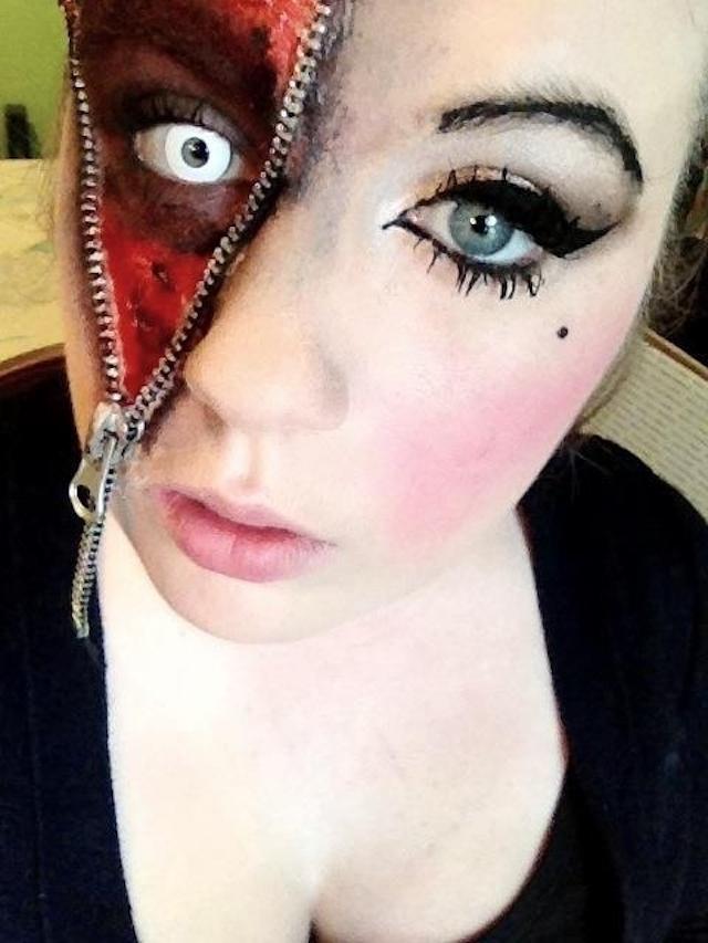 maquillaje-halloween-cremallera-ojo-blanco