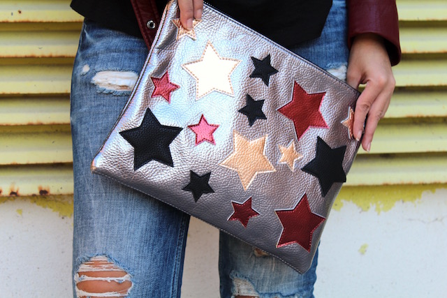 biker-roja-de-zara -bolso con estrellas