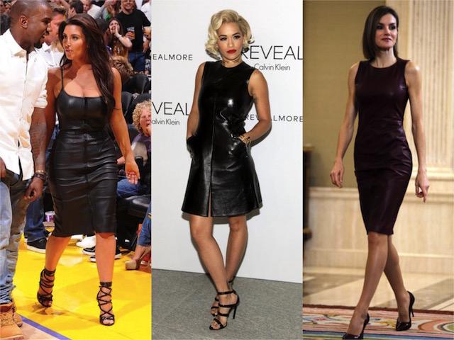 STREET STYLE : Los vestidos de cuero