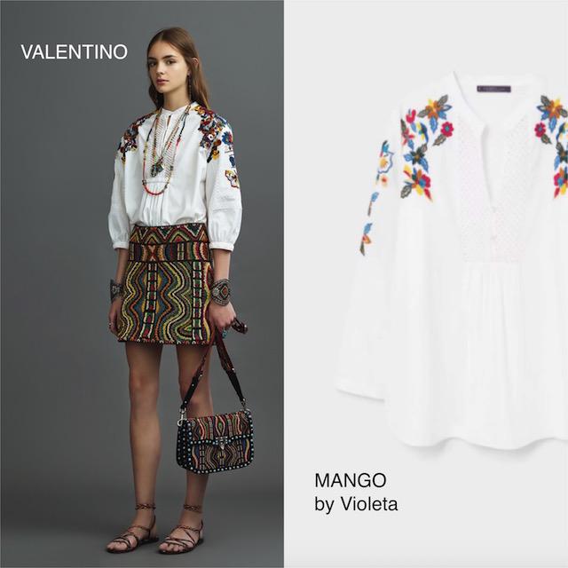 blusa bordada de Valentino