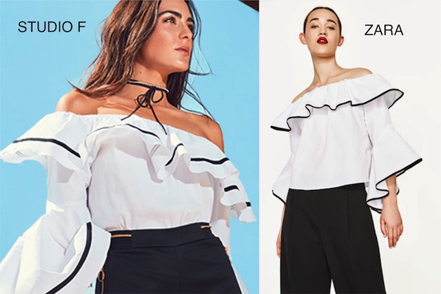 69fab139e Zara ha clonado esta bonita blusa de la firma colombina Studio F pero  también una camiseta