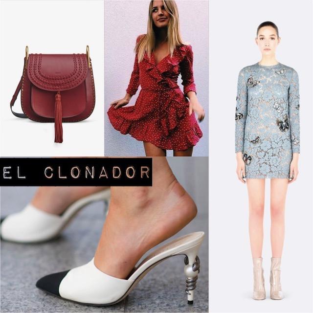 CLONES_ slingback de Chanel _ VESTIDO ENCAJE VALENTINO _BOLSO CHLOÉ