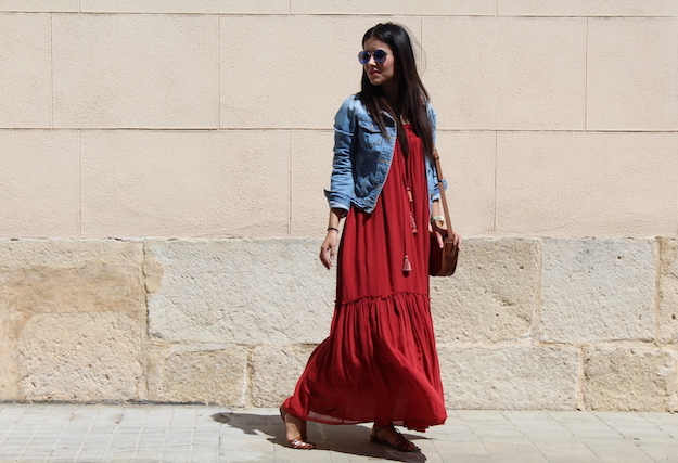falda larga de Zara