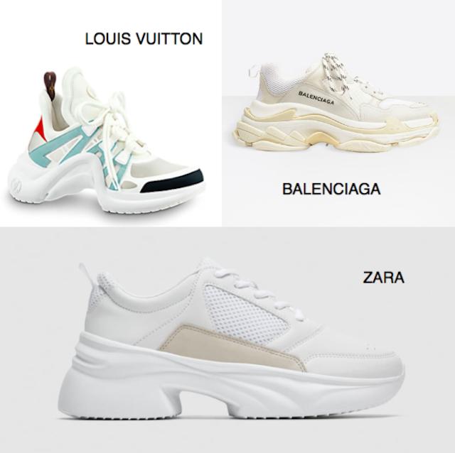 Zara se inspira en las famosas sneakers de Balenciaga