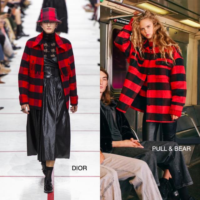 clones - chaqueton de cuadros rojo y negro de Dior