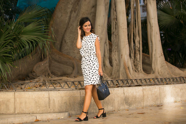 after work - vestido lunares - mango