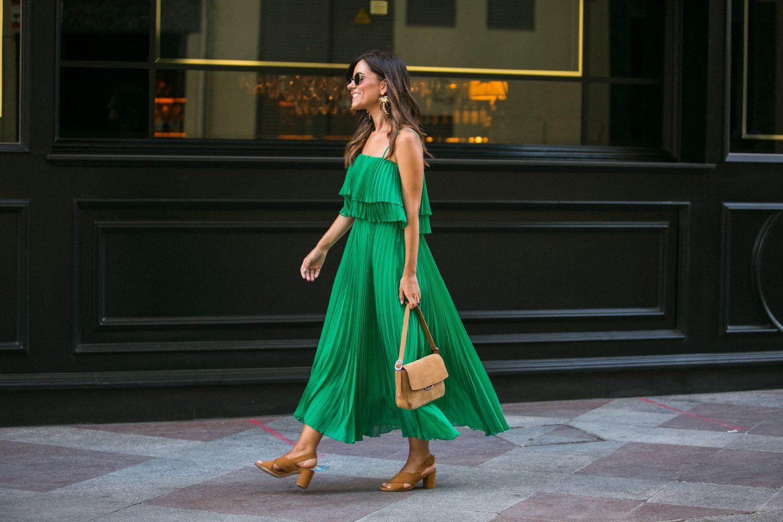 vestido plisado zara sevilla Andalucía vacaciones
