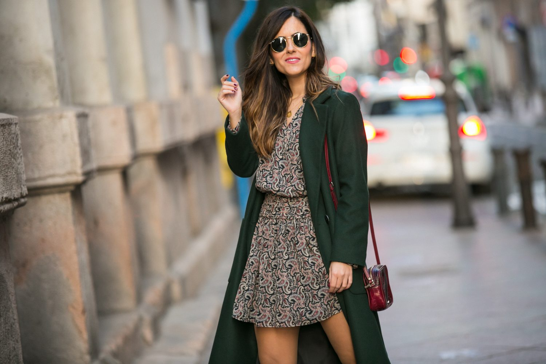vestido estampado cachemir zara