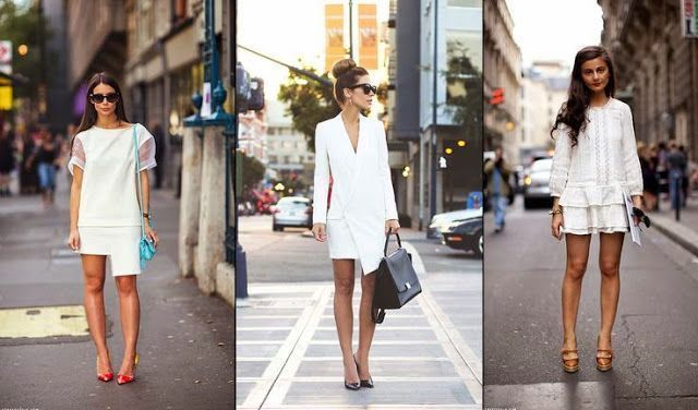 Street Style : Vestidos Blancos…