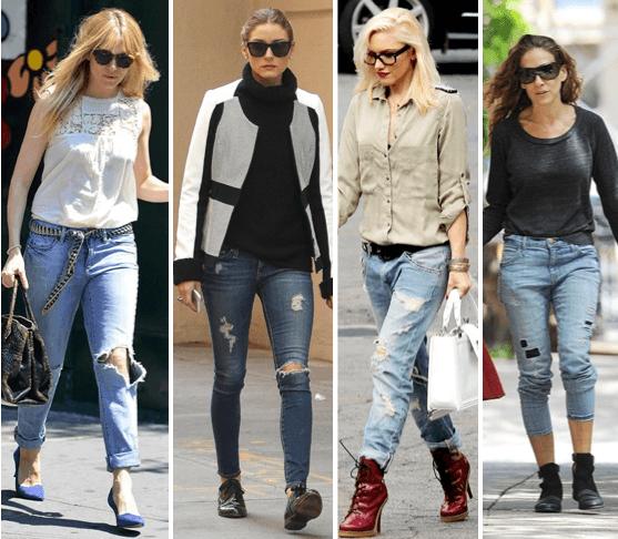 Siguen siendo moda los Ripped Jeans.